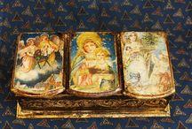 Купить Рождестве твое христе боже наш - черный, шкатулка, шкатулка для украшений, шкатулка декупаж