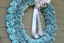 pine cone wreathe