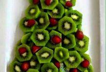 Kerstdiner school fruitsalade