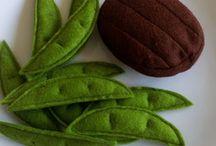 légumes et fruits en feutrine