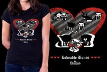 Skelanimal's Tshirt Contes! / Our participations to the Design by Humans Skelanimals' contest!