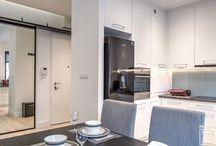 Kuchnia / Kuchnia w stylu nowoczesnym, skandynawskim, minimalistycznym Kuchnia otwarta i zamknięta