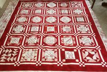 Quilts - Red & White patterns / Inspirational patterns.