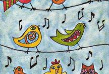 výtvarka ptáci