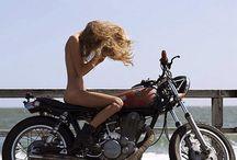 Girls on motor bikes