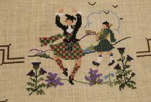 Sewing:- Scottish cross stitch