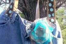 Oldflame Rekindled Jean Handbag / My favorite Jeans rekindled into a handbag.