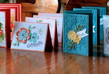 Cards I made / cards made at club 40 retreat or at club 40 classes or just made at home or friends house or stampin club Logan Lake