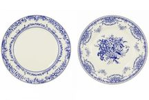 Porcelain Party / Porcelain style blue and white accessories, perfect for parties and picnics.