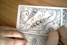 Hand Drawing & Zentangle pattern