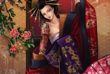Geisha en Kimono.