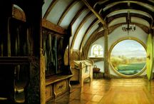 J.R.R. Tolkien / In a hole in the ground there lived a hobbit.