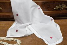Linen Handkerchiefs / Please come browse through some handmade handkerchiefs made from the finest linens imported from Italy.