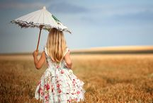 little girl with umbrella - photography