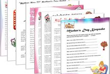 "Mother's Day Printable Games / For the special mom in your life, there's no better way to treat her than with a few fun Mother's Day games! Featuring classic games like ""Mother May I?"" and Mother's Day trivia, these Mother's Day games are perfect for playing with mom!  Don't settle on another Mother's Day of flowers and a card – liven up the tradition by printing off a few of our fun Mother's Day games!"