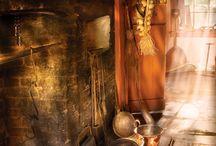 Inside: Fireplace