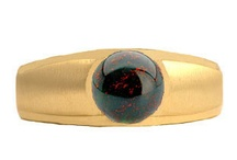 Mens Bloodstone Rings / Men's Bloodstone Rings From Gemologica.com. Let us help you find the perfect men's bloodstone ring! Our men's bloodstone rings are crafted of .925 sterling silver, yellow gold, white gold, and are tastefully accented with diamonds.