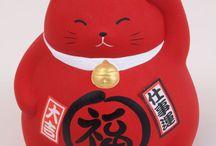 Manekineko japanische Glückskatze, Winkekatze