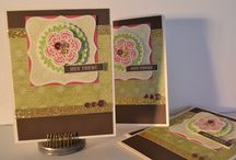 Ivy Lane Cardmaking Kit - Close To My Heart / Completed cards from the Ivy Lane Workshop On The Go kit from Close To My Heart, this kit includes all supplies to create 15 card (5 each of 3 designs)