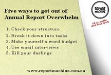 Report Machine annual report tips