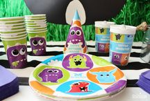 Monster Birthday Party / Grab some monster munch, adopt a monster, or snack on a monster cupcake! This party is full of personalized details that include themed tableware, reusable props, and a DIY backdrop. Follow the link for all @crowningdetails monsterous fun details and more party ideas!