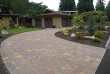 Paved Driveway Ideas / Your driveway doesn't have to be asphalt. Add some character with interlocking concrete or permeable pavers. With a wide variety of shape, color, and texture options your choices are seemingly endless.
