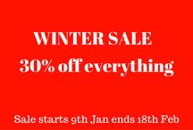 Winter Sale / Our SALE starts the 9th Jan until 18th Feb