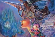 Josephine Wall Art ..and Jim Warren / Painting...
