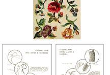 Вышивка якобинская  (jacobean embroidery)