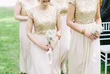 Bridesmaids dress ideas / Gold bridesmaid dresses