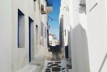 My minimalistic Mykonos  / White + blue + minimalism