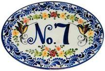 Número de casa  en ceramica