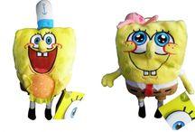 SpongeBob / Produkty a plyšáci s tématikou oblíbeného seriálu a filmů o mořské houbě SpongeBob