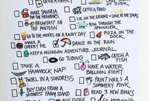 Summer bucket lists