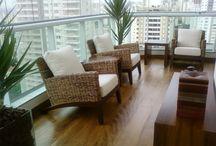 Varandas/piso de madeira