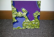 African wax print fabric wall art