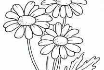 Zeichenvorlagen Blumen