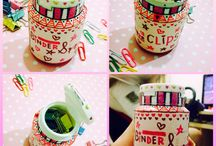 DIY / This is decorating bottle of bubble gum with piece of paper and spidol.