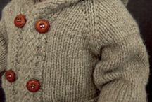 Latte Knitted Baby Coat