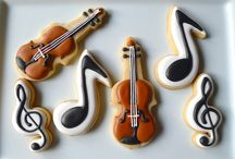 violin party decor