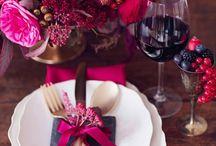 Dark pink wedding