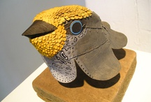 birds made of cardboard