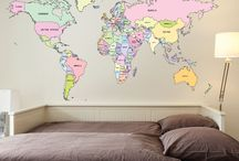 World Maps / World maps for interior decoration. Visit http://www.wallboss.co.uk for world map wall decals & stickers