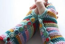 crafts- CROCHET -  gloves/mittens/handwarmers/legwarmers