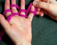 Finger Knitting +