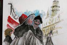 Atelier de Vivien François - Dessins et croquis / Dans ce tableau, vous retrouverez plusieurs de mes dessins et croquis, peinture. Je suis professeur de dessin en Ligne et sur Lyon (France). Je vous invite à visiter mon site internet à www.atelier-vivien.fr  A bientôt  Vivien François