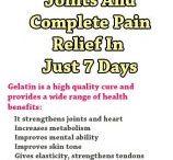 gelatin drink - healthy joints