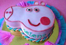 Tartas Infantiles chicas / Tartas de Fondant personalizadas para chicas, pintadas a mano, con colorantes comestibles.