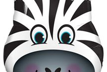 Zebra party supplies / Zebra party balloons and diy decorating kits from Celebrate the Day