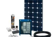 Solar Sets für Autos und Caravans - Solar kits for car and caravan / Versorgen sie die Bordelektronik mit Hilfe einer Solaranlage - for the electric needs of your car or caravan
